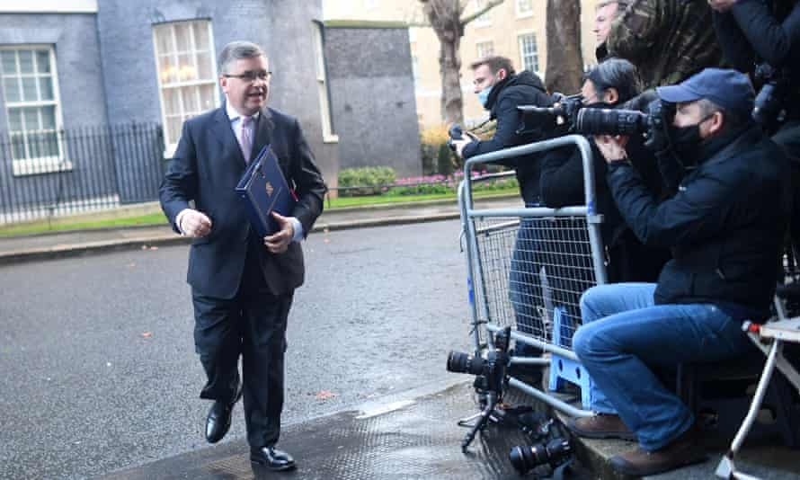 The justice secretary, Robert Buckland, blamed the public for the second national lockdown in November.