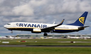 A Ryanair plane takes off from Dublin airport