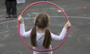 A child in the playground at the Harris Academy's Shortland's school in London.