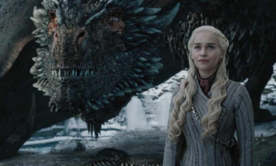 Emilia Clarke as Daenerys Targaryen in the final season of Game of Thrones