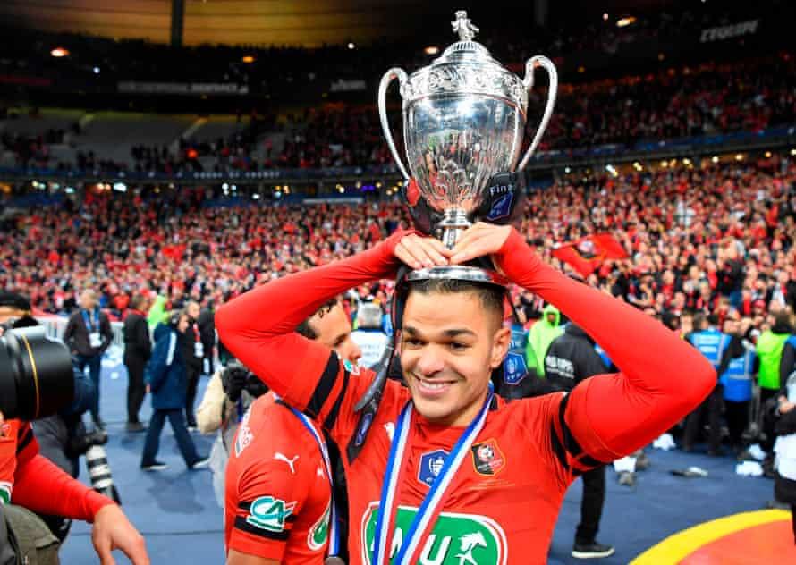 Hatem Ben Arfa enjoys the moment.