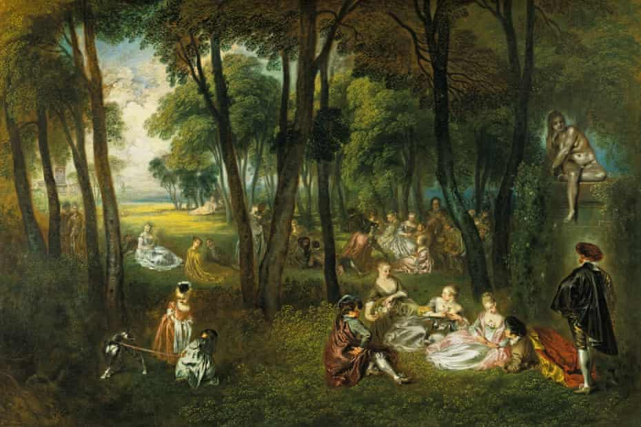 Galante festival in a wooded landscape