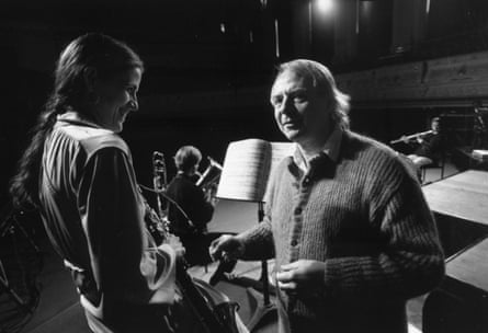 Stockhausen rehearsing at Huddersfield festival, 1988
