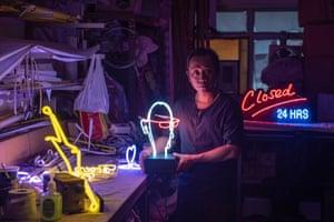 Neon sign maker Wu Chi-kai