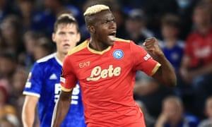 Victor Osimhen has struck twice for Napoli.