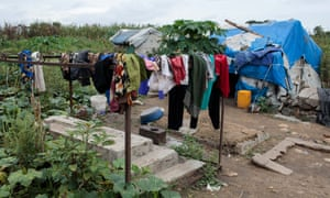 Thousands of homeless people in South Sudan's capital have been forced to live in the city's graveyard, Juba.