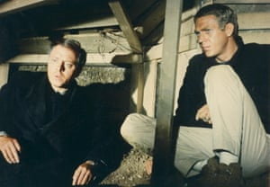 Richard Attenborough, left, with Steve McQueen in the The Great Escape.