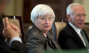 Federal Reserve chair Janet Yellen presides over a meeting