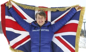 Lizzy Yarnold was also Team GB's flag bearer at the closing ceremony in Sochi four years ago.