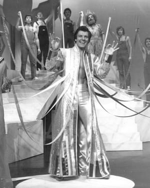 Jess Conrad rehearsing for his role in the 70s