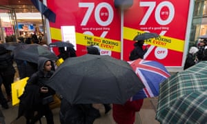 Boxing day sales in London