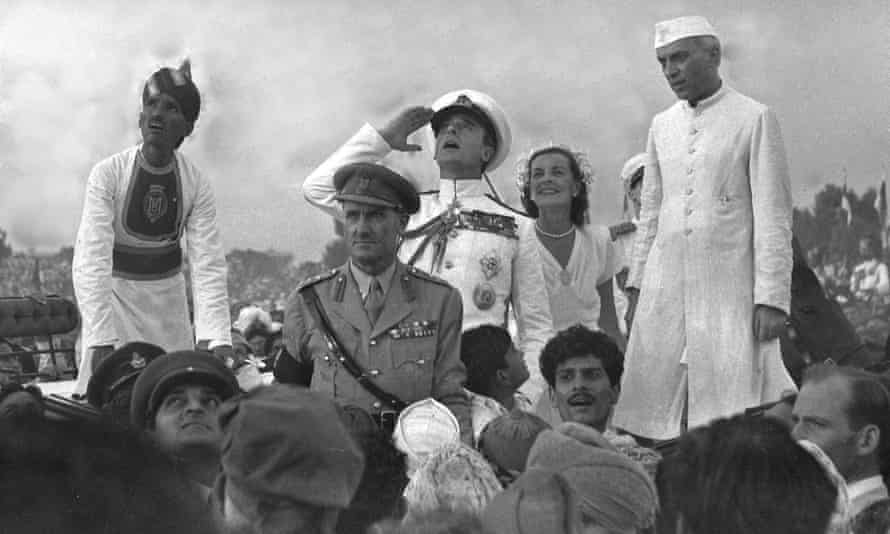 Lord and Lady Mountbatten with Jawaharlal Nehru, 1947