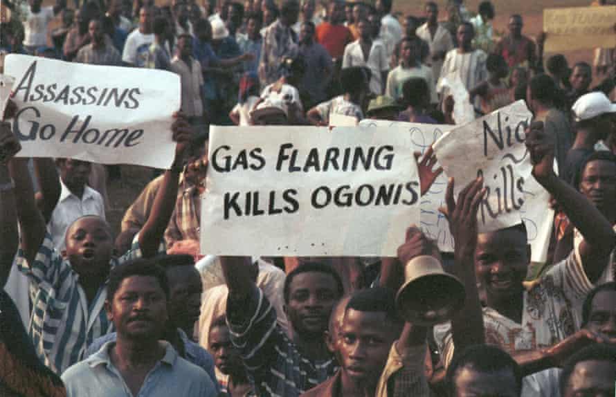 Ogoni Day demonstration in Nigeria, 1993