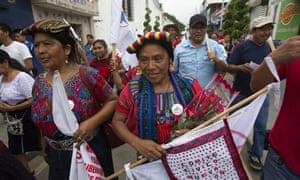 Thelma Cabrera campaigns in Palin, Guatemala.