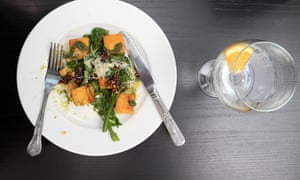 Match of the day … Glenn's lunch of butternut squash gnocchi – paired with a glass of gin