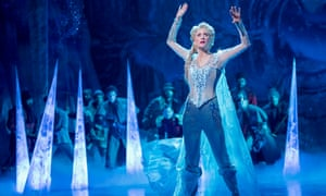 Caissie Levy as Elsa in Frozen: The Musical.