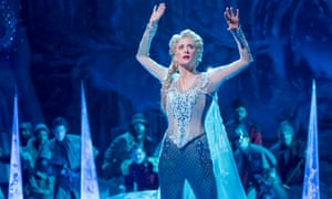 Caissie Levy as Elsa in Frozen: The Musical on Broadway.