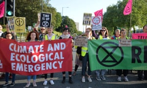An Extinction Rebellion protest this month in Birmingham.