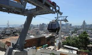 The cable car from Morro da Providência favela to Rio's old city centre.