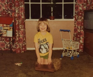 Lynsey Hanley Playing toy piano at home, 1981