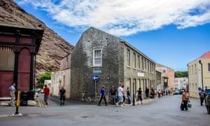 Street scene in Jamestown the island's capital. St Helena.