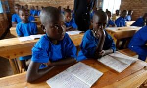 Rwanda school children