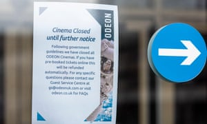 Odeon's notice about refunds – but making contact is the problem.