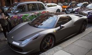 A Ferrari 458 in London.