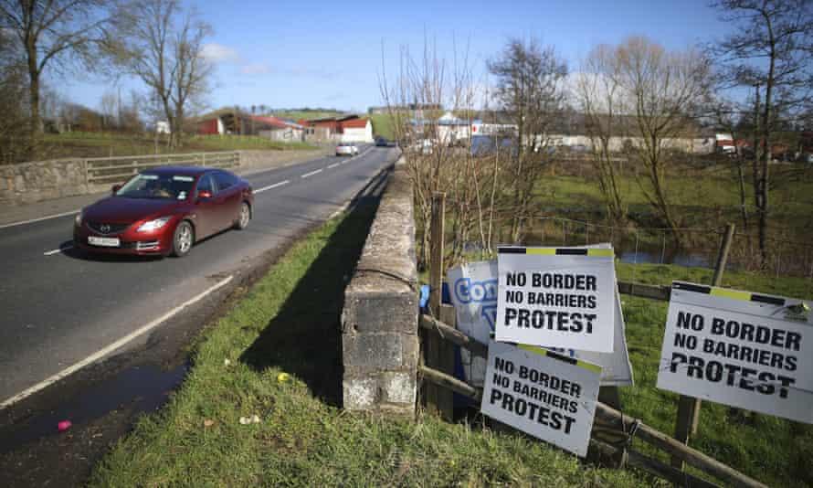 The Irish border in Middletown, Northern Ireland.