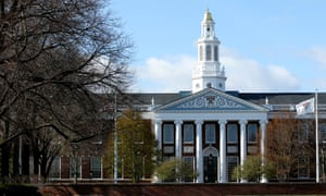 A general view of the Harvard University campus in Cambridge, Massachusetts.