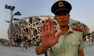 """China's National Stadium in Beijing, known as """"the Bird's Nest"""""""