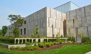 The Barnes Foundation Museum on the Ben Franklin Parkway in Philadelphia, which replicated the original building's exhibition rooms. <br>