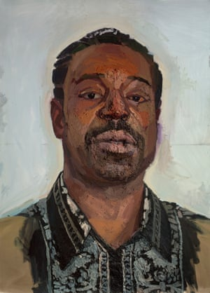Enocio by Sedrick Huckaby, one of the artworks on display at the Boston Museum of Fine Arts.