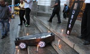 Uber symbolic burial Rio de Janeiro