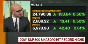 The open of Wall Street, December 28 2017