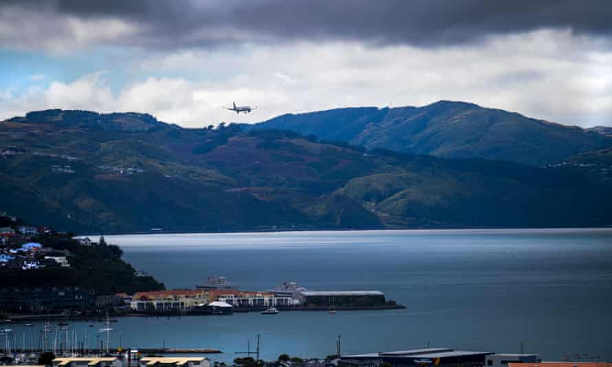 An Air New Zealand flight arrives in Wellington