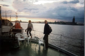 Back in Stockholm we stayed in a youth hostel on a boat. Here we are on our last night watching the sun set. My holiday was over, but I had fallen in love with this land of vast skies, sparkling seas and endless summer evenings.