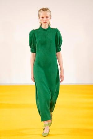 An Emilia Wickstead dress at London fashion week.