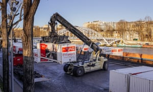 Franprix supplies 135 of its 350 Parisian stores via the Seine, taking 2,600 lorries off the city's roads each year.