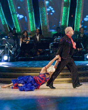 John Sergeant and Kristina Rihanoff on Strictly Come Dancing.