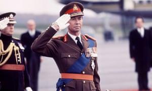 Grand Duke Jean of Luxembourg saluting