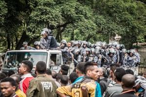 Addis protests