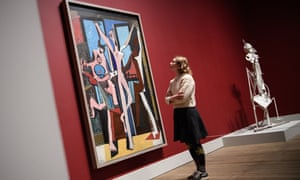 A woman looks at a Picasso painting at Tate Modern