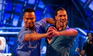 Johannes Radebe and Graziano Di Prima dancing as Emeli Sandé sings Shine on Strictly Come Dancing: The Results.