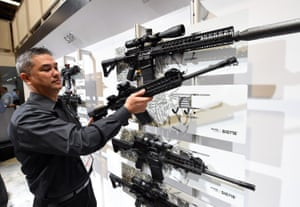Glen Kukula takes a Patrol SIG716 rifle