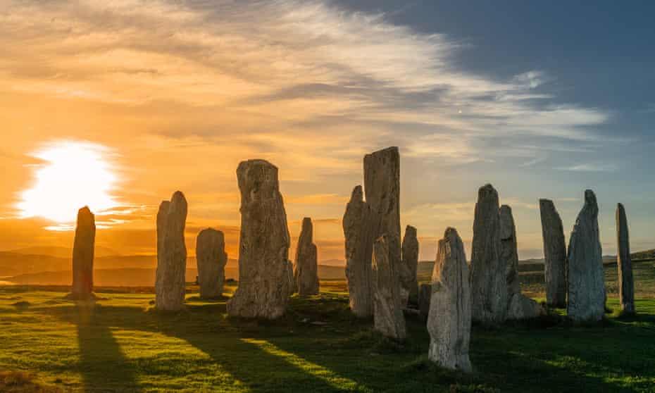 Callanish standing stones on the Isle of Lewis.