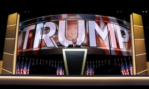 Donald Trump addresses the Republican national convention.