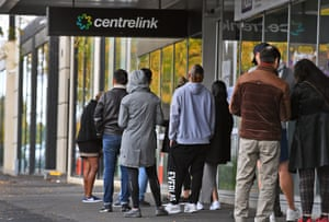 Queue outside a Centrelink office