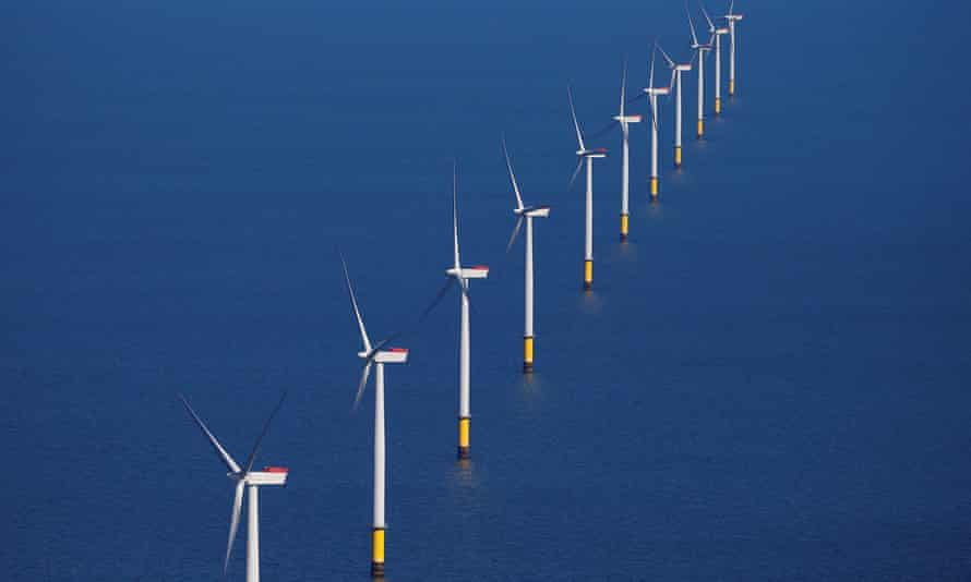 A wind farm off the coast of Blackpool