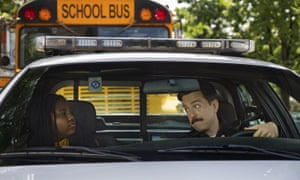 Terrence Little Gardenhigh and Ed Helms in Coffee & Kareem.